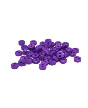 Violetinės dekoratyvinės spalvotos plastikinės sagutės - 5 mm