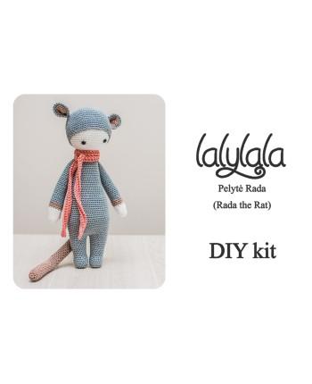 DIY KIT - Nėrimo rinkinys - Lalylala pelytė Rada
